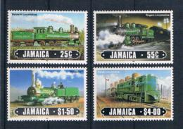 Jamaica 1985 Eisenbahn Mi.Nr. 616/19 Kpl. Satz ** - Jamaica (1962-...)