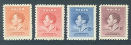 NAURU - MNH/**. - 1937 - CORONATION - Yv 33-36 -  Lot 18401 - SMALL BROWN TRACE ON 2 1/2 P. - Nauru