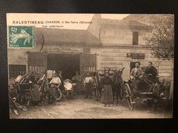 GIRONDE 33 - JAMAIS VU SUR DELCAMPE - CARTE POSTALE ANCIENNE SAINTE TERRE / BALESTIBEAU CHARRON VUE EXTERIEURE - France