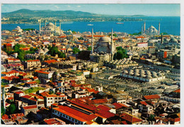 ISTAMBUL    ST. SOPHIA  ET LE  MOSQUEE  BLEUE DANS  L' ANCIENNE  VILLE         (NUOVA) - Turchia