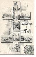 88 - EPINAL -  Souvenir - (Petites Vues Dans Une Croix De Lorraine - 1905) - Epinal