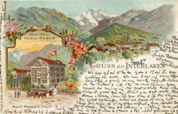 SWITZERLAND - Gruss Aus Inrelaken - Vignette - Undivided Rear 1904 Good Postmarks Etc To London - BE Berne