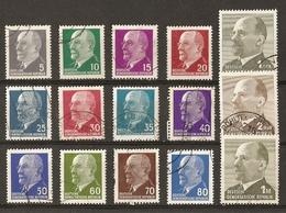 Allemagne DDR - 1961/67 - Walter Ulbricht -  Petit Lot De 15 Timbres Oblitérés - Timbres