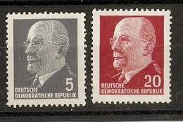 Allemagne DDR - 1961/67 - Walter Ulbricht -  Petit Lot De 2 Timbres MNH Avec N° De Contrôle - Timbres
