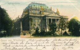GERMANY - Gruss Aus WIESBADEN - Undivided Rear Vignette - 1902 Good Postmarks Etc - Wiesbaden