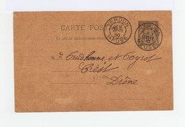 Carte Postale Entier Postal Type Sage Oblitéré CAD Verdun 1890. (913) - Entiers Postaux