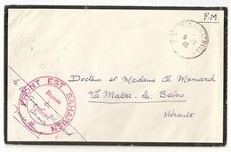 Cachet Du Bureau Du Courrier Du Front Est Saharien (GF470) - Marcophilie (Lettres)