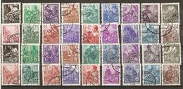 Allemagne DDR - 1953/54 - Plan Quinquennal -  Petit Lot De 2 Séries Complètes° En Helio/typographies -117/134 148/162 - Timbres