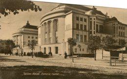 ESTONIA - Tallinn Reval Estonia Teater - VG Postmarks, Catchet And Stamps Etc 1918 - Estonie