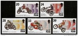 ISLE Of MAN 1993 - Motorcycling: DRIVER And Their MACHINES - SALE! 5v Mi 550-554 MNH ** Cv€5,00 N272 - Man (Insel)