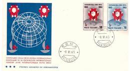 Fdc Tre Stelle: CROCE ROSSA 1963; No Viaggiata; AF_Roma - F.D.C.