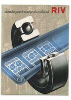 Instructions Pour Le Montage Des Roulements RIV Officine Di Villar Perosa Torino - Sciences & Technique