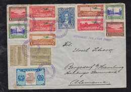Guatemala 1936 Airmail Cover To BERGEDORF HAMBURG Germany - Guatemala