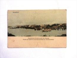 Cartolina Manaos  Brasile Panorama 1908 - Manaus