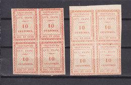 GUYANE 2 BLOCS DE 4 REVENUESENREGISTREMENT  NEUF SANS GOMME - Guyane Française (1886-1949)