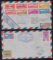 Guatemala 1938 Registered Airmail Cover To MONTEVIDEO Uruguay - Guatemala