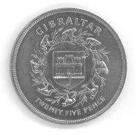 GIBRALTAR - 25 PENCE 1977 - Elizabeth II - 25ème Anniversaire Du Couronnement D'Elizabeth II - Gibraltar