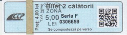 Romania Iasi 2 Trips Transportation Ticket For Bus And Tramway, Used - Bus