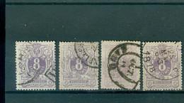29 5x Obl Diverses Teintes Et Double Cercle Côte 290€ - 1869-1883 Leopold II