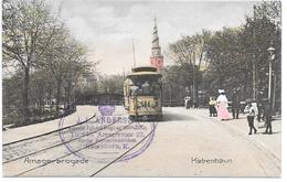 Denmark - København - Amagerbrogade M. Sporvogn - Tram - Hand-coloured - Dänemark
