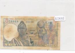 Billet - B2895 - 5 Francs Afrique Occidendale Française 1952 ( Catégorie,  Nature état ... Se Référer Au Double Scan) - Billets