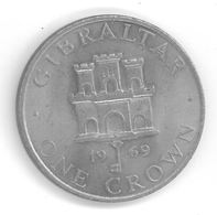 GIBRALTAR - 1 CROWN 1969 - Elizabeth II - 2ème Effigie - Gibraltar