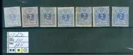 27 X Teintes Différentes Côte 210€ - 1869-1883 Leopold II