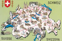 SUISSE,HELVETIA,SWISS,SCHWEIZ,SVIZZERA,SWITZERLAND,PLAN,CARTE - Suisse