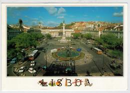LISBOA   PRACA  DO  ROSSIO     2  SCAN   (VIAGGIATA) - Lisboa