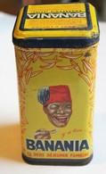 Ancienne Boîte Métallique Banania Sucre Poudre Métal Jaune Courbevoie Y'a Bon Banania - Boxes