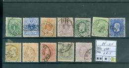 26-36 Oblcôte 110€ - 1869-1883 Leopold II