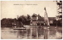 ARDRES - 62 - Villa De M. Hénon - Barques Barque Voiliers Bâteau Bâteaux - Ardres