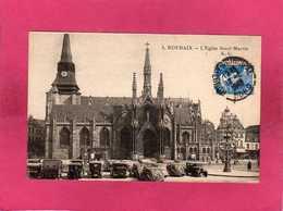 59 Nord, Roubaix, L'Eglise Saint-Martin, Animée, Voitures, 1948, (E. C.) - Roubaix