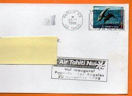 PAPETTE LES MAMMIFERES MARINS    1998  Lettre Entière 110x220 N° OO 408 - Dauphins