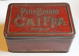 Belle Boîte Métallique Ancienne Petit Beurre Caïffa - Scatole