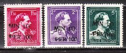 724N/P**  Leopold III Col Ouvert Surchargé -10% - OOSTROOZEBEKE - Série Complète - MNH** - LOOK!!!! - 1946 -10%