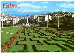 Lisboa. Parque Eduardo VII E Vista Parcial. Lisbon. Edward VII Park And Partial View. Lisbonne. Parc Edouard VII. - Lisboa