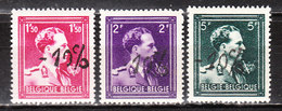724N/P**  Leopold III Col Ouvert Surchargé -10% - OOSTMALLE - Série Complète - MNH** - LOOK!!!! - 1946 -10%
