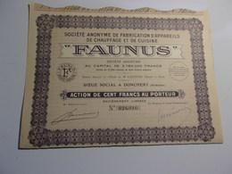 FAUNUS Fabrication D'appareils De Chauffage..(donchery , Ardennes) - Actions & Titres