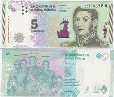 Argentina P 359 - 5 Pesos 2015 - UNC - Argentine