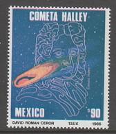 TIMBRE NEUF DU MEXIQUE - PASSAGE DE LA COMETE DE HALLEY N° Y&T 1150 - Astronomie