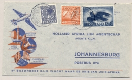 Nederland - 1940 - LP Mengfrankering Op 2e Afrikavlucht Van Amsterdam Via Napels Naar Johannesburg / South Africa - Periode 1891-1948 (Wilhelmina)