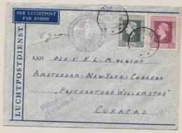 Nederland / Curacao - 1946 - 17,5 En 50 Cent Bevrijdingszegel Op LP-cover Van LB Foxhol Naar Willemstad - Brieven En Documenten