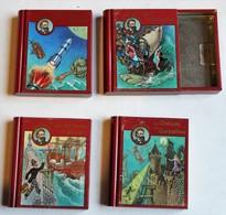 4 Petites Boîtes De Collection Jules Verne Läckerli Huss Basel Suisse Bonbons Pastilles De Dextrose - Boxes