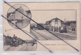 Sainte Seine-L'Abbaye (21) Gare Du Tramway -3 Petites Vues ;Train Vapeur / Buvette De La Gare / La Gare - Non Classés