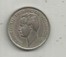 Monnaie , MONACO , 100 Francs , 1956 , 2 Scans - Monaco