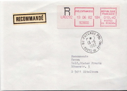 Postal History Cover: France With Automatic Stamp, R Cover From 13.06.1982 Sent To Switzerland - 1981-84 LS & LSA Prototypes