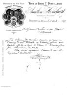GF3- Aurelien Houchart Fabrique De Vin Tholonet Pres De Aix 1898 Bouches Du Rhône - Alimentaire