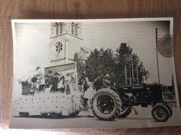 Photo Originale Tracteur Attelage A Situer - Cartes Postales