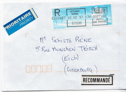 Postal History Cover: France With Automatic Stamp, R Cover From 10.02.1997 - Unclassified